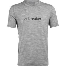 Icebreaker Tech Lite Wordmark Top Manga Corta Hombre, gris